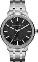 Armani Exchange Men's Three-Hand Date Silver-Tone Stainless Steel Watch AX1455