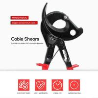 Cigovd HS-520A Portable Ratchet Cable Shears Fast And Labor-Saving Manual Mechanical Cable Scissors