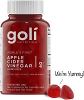 World's First Apple Cider Vinegar Gummy Vitamins by Goli Nutrition - Immunity, Detox & Weight -