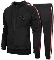 Men's Hooded Athletic Tracksuit Casual F